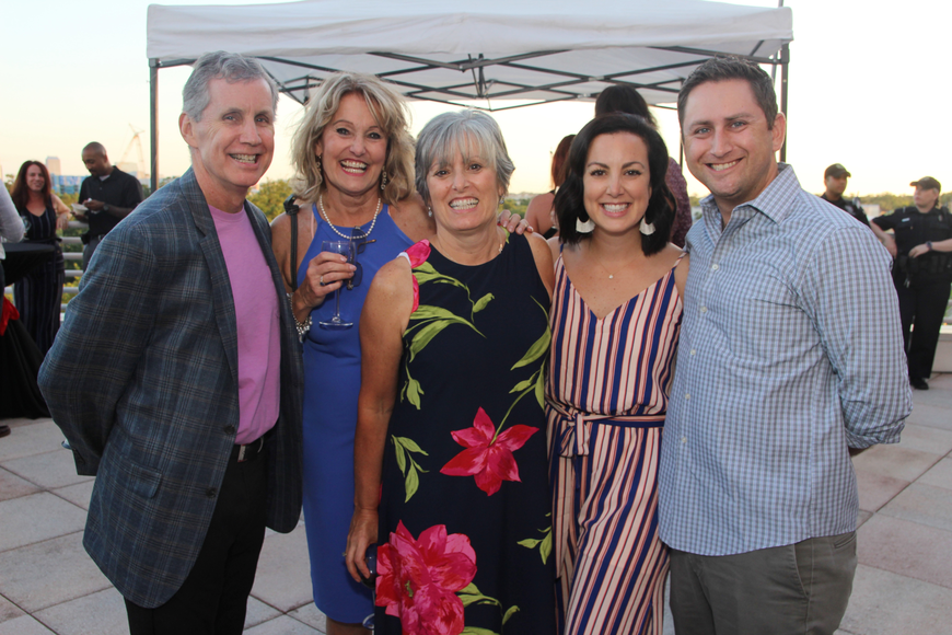 Rich and Barb Grant, Orlando Science Center CEO and president JoAnn Newman, Kristyn and Brian Cipollone