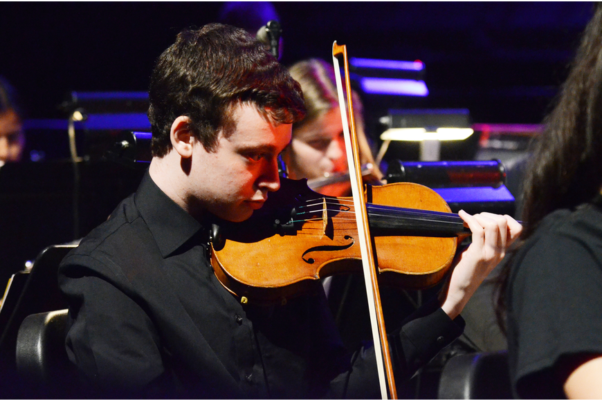 Matthew Bressler was part of the orchestra's string section.