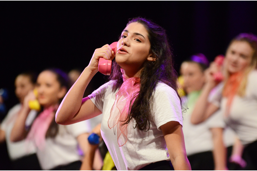 Sarah Gonsalves was one of several students that performance in the show.