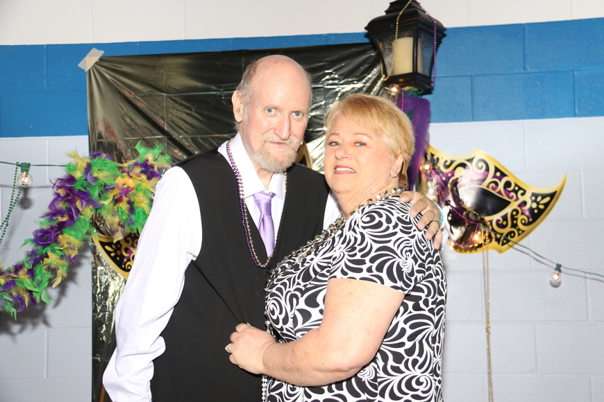 Larry and Cynthia Stroud posed for prom pictures.
