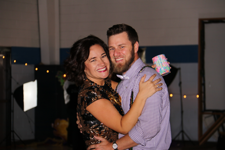 Mindy and Daniel Hungerford were all smiles on the dance floor.