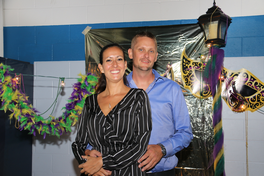 Camila Bergman and Jeff Addington enjoyed themselves at the prom.
