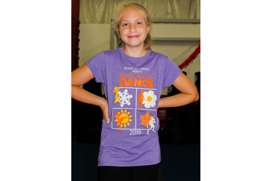 Addison Oakley, 12, chose to pose with her hands on her hips during dance practice.