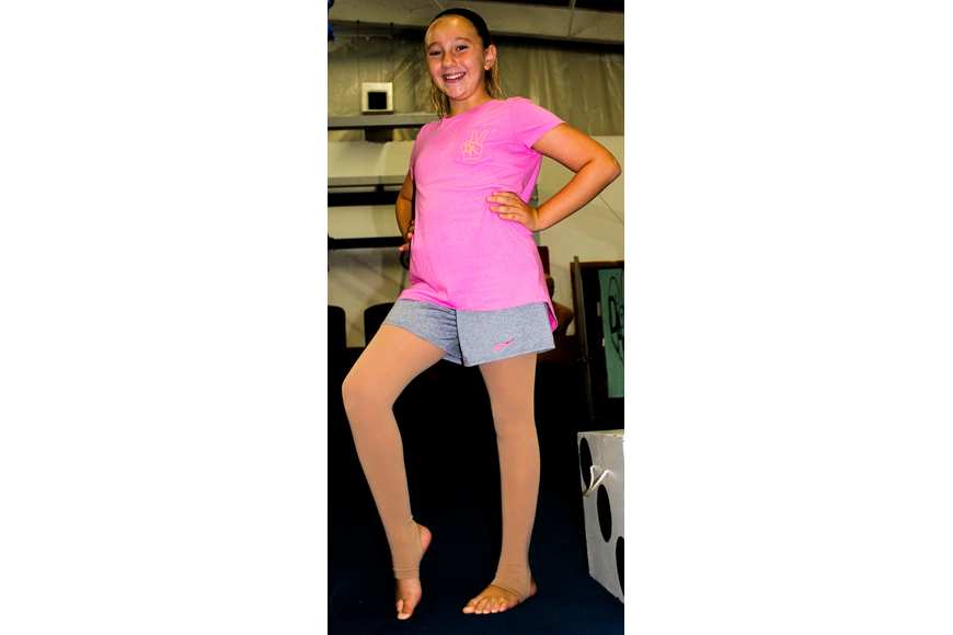 Aubrey Smith, 10, showed off her proper dance form and pointed toes.