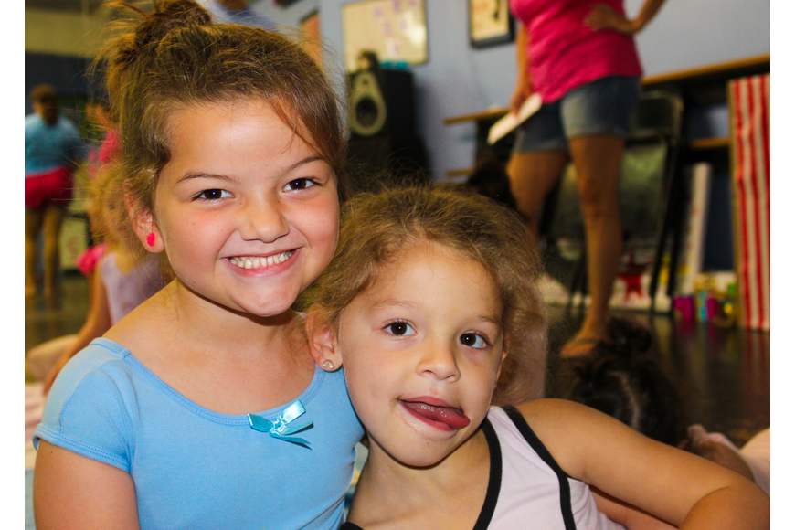 Sisters Kennedy, 5, and Parker Allen, 4, had a blast together at the camp.