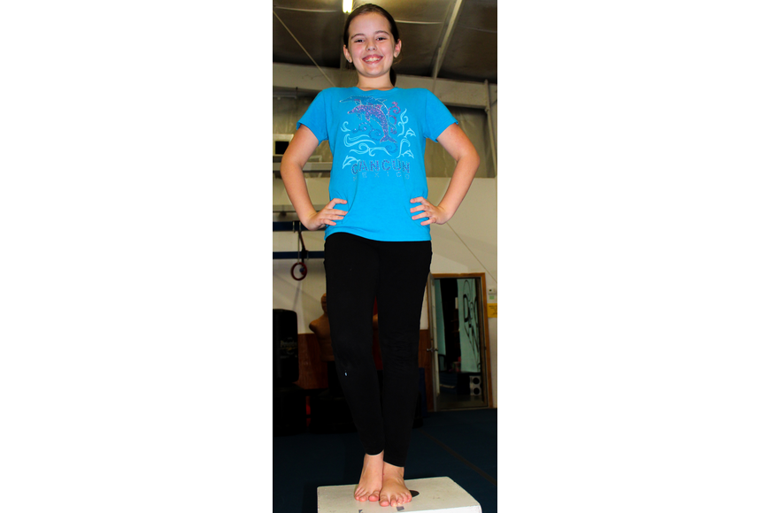 Nina Gasset, 11, was ready to dance with her hands on her hips.
