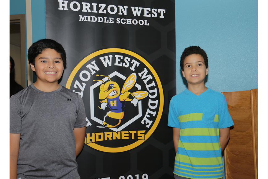 Sixth-graders Diego Cavazos and Pablo Baez, both 10, were excited to check out their new school.