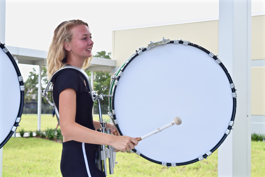 Members of the Windermere High drum line added some fanfare to the Sneak Peek experience.