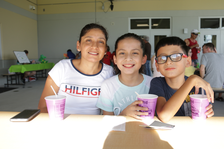 Mariela Orozco enjoyed from sweet shaved ice with her children fifth-grader Kelly and third-grader Christopher Noriega.