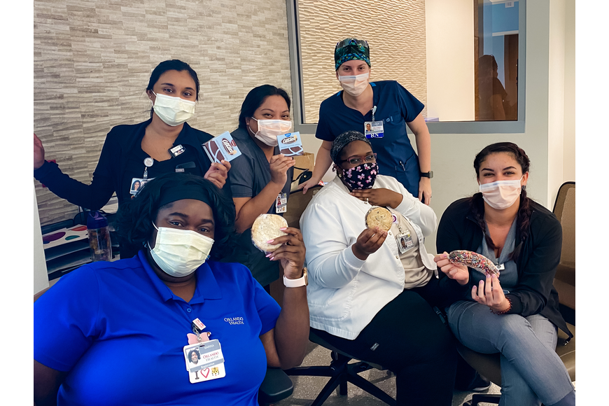 Nurses at Orlando Health Emergency Room and Medical Pavilion — Horizon West were treated to a delivery from Abbott's Frozen Custard.