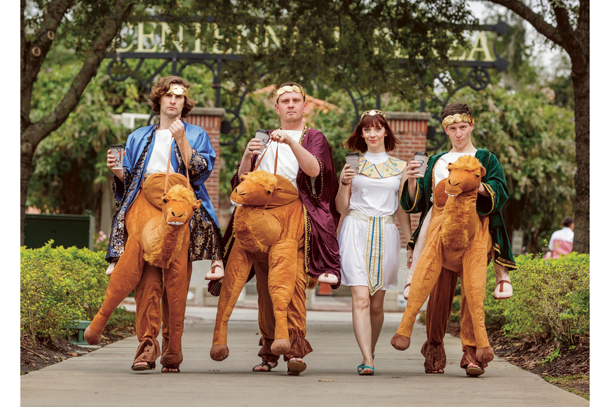 "T.J. Washburn, Adam Graham, Kristin Shirilla and Mason Criswell starred in the Garden Theatre's epic comedy, ""Ben Hur."" Published Feb. 20, 2020."