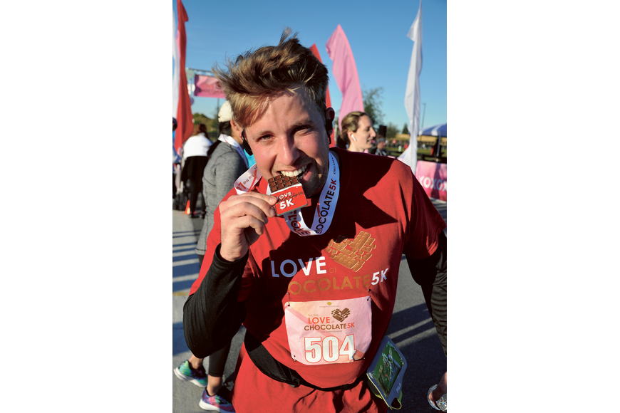 Jeff Sandgren savored the sweet taste of victory after completing the For the Love of Chocolate 5K Saturday, Feb. 8, near Cinépolis in Hamlin. Published Feb. 13, 2020.