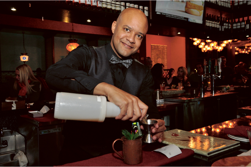 "Dionisio ""Dio"" Encarnacion took his place back behind the bar at Bosphorous Turkish Cuisine in Hamlin after being struck by a car in September 2019. Published Feb. 27, 2020."