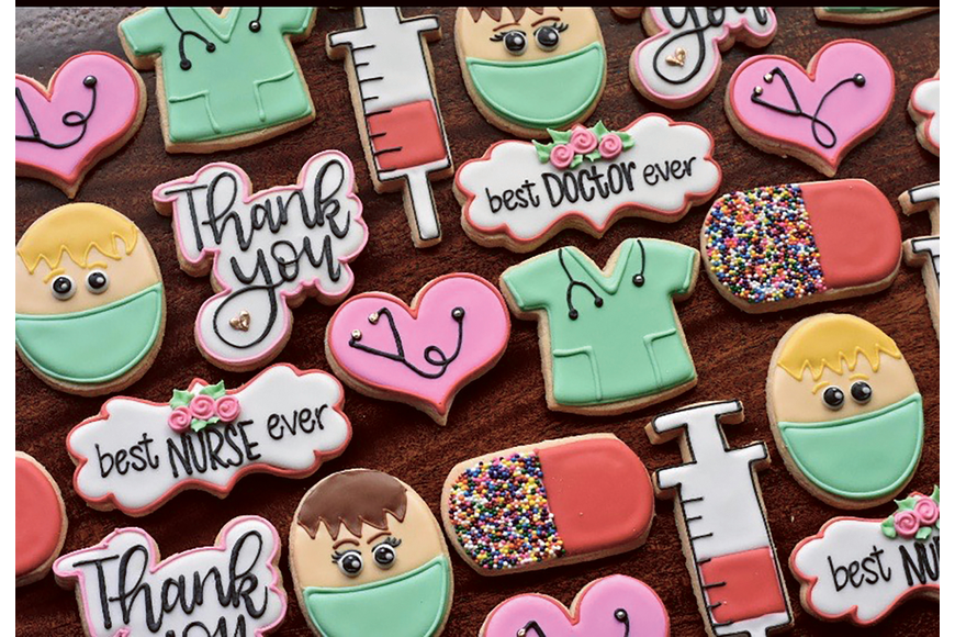 Ocoee-based LuBelle's Cakes created cookies to thank doctors and nurses for their hard work. Published April 16, 2020.