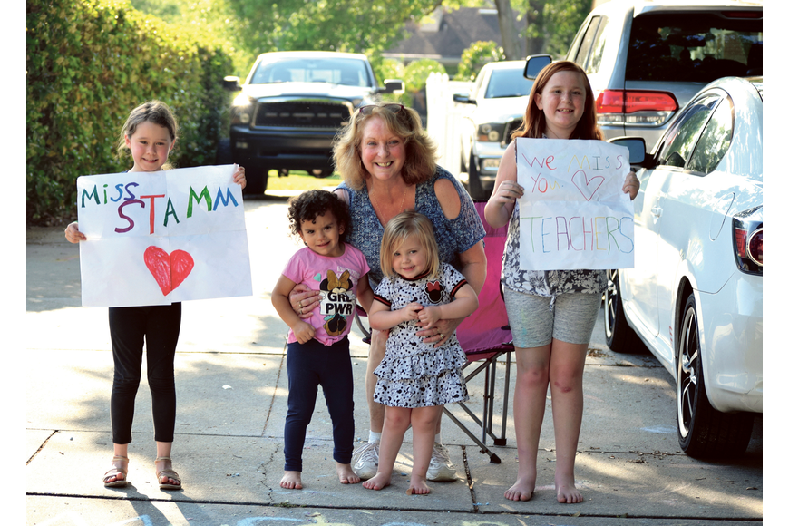 Janette Exton, center, and her daughters — Rileymarie, Cataleya, Madison and Kiehanna — loved seeing their Windermere Elementary School teachers drive by during a post-pandemic parade. Published April 2, 2020.