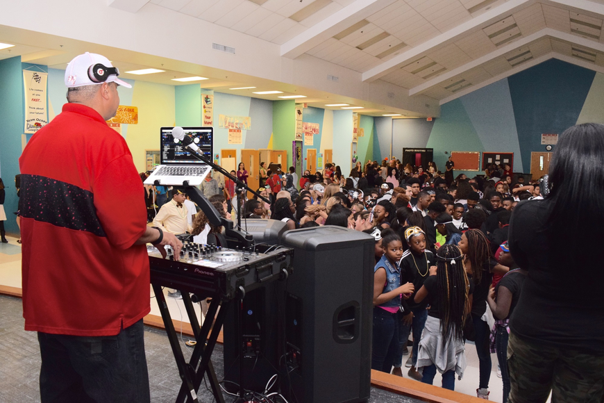 A DJ spun some tunes for Ocoee Middle School students to jam out to at the dance.