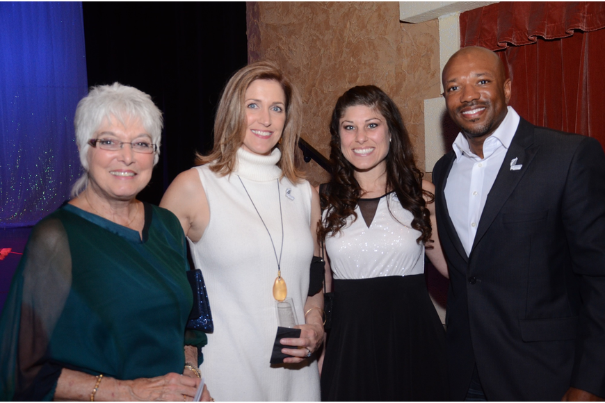 Dianna Duffy, Lesley Austin, Kari Bacon, and Reginald Riley enjoy the evening.