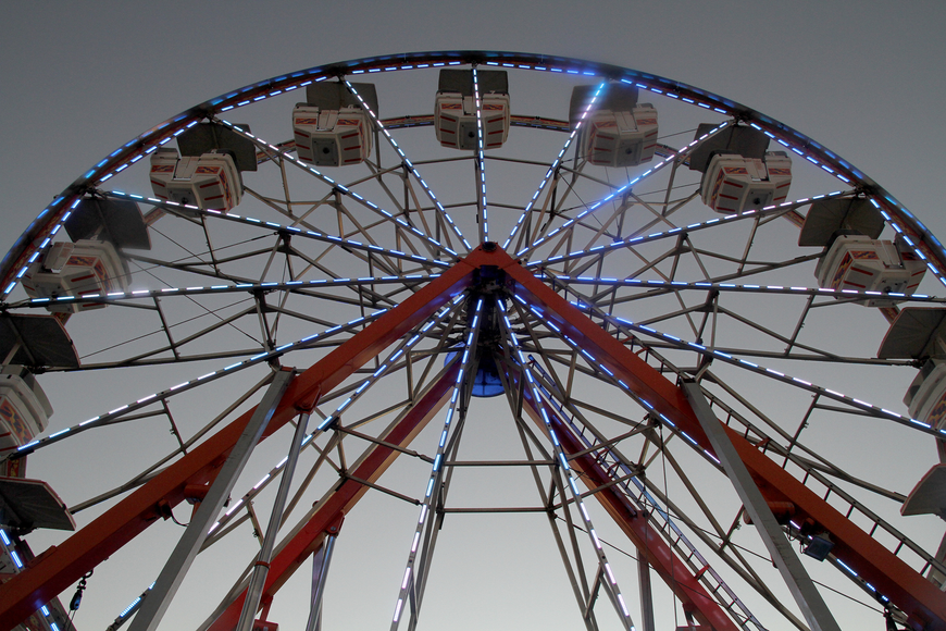 No festival would be complete without a giant ferris wheel.