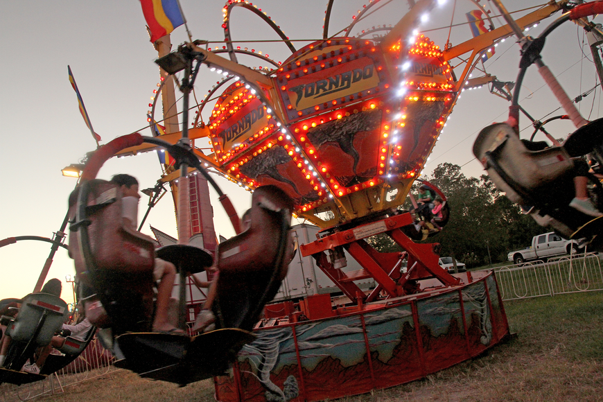 Many riders were a little dizzy after taking a spin on the Tornado.