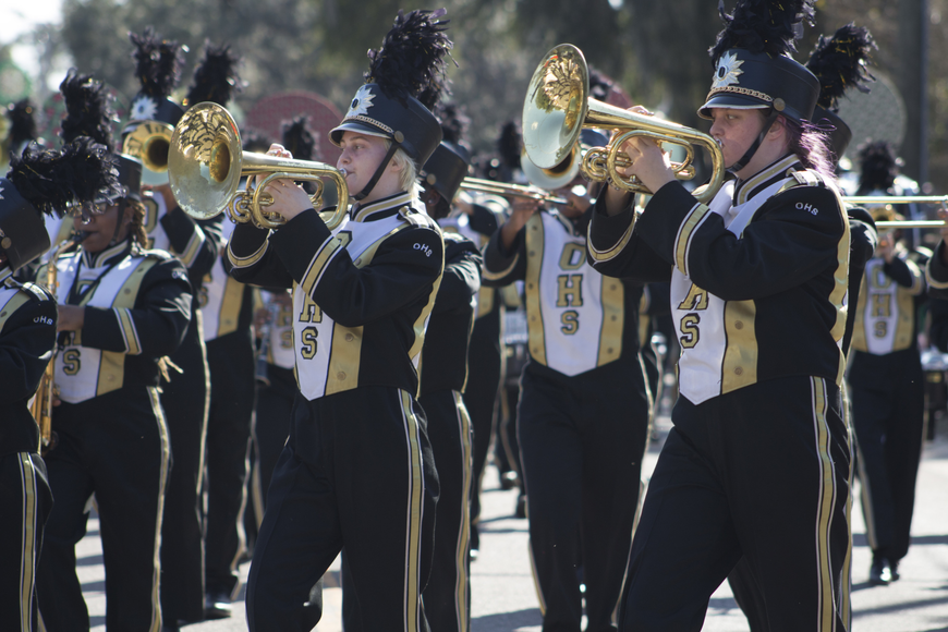 The Ocoee High School marching band.