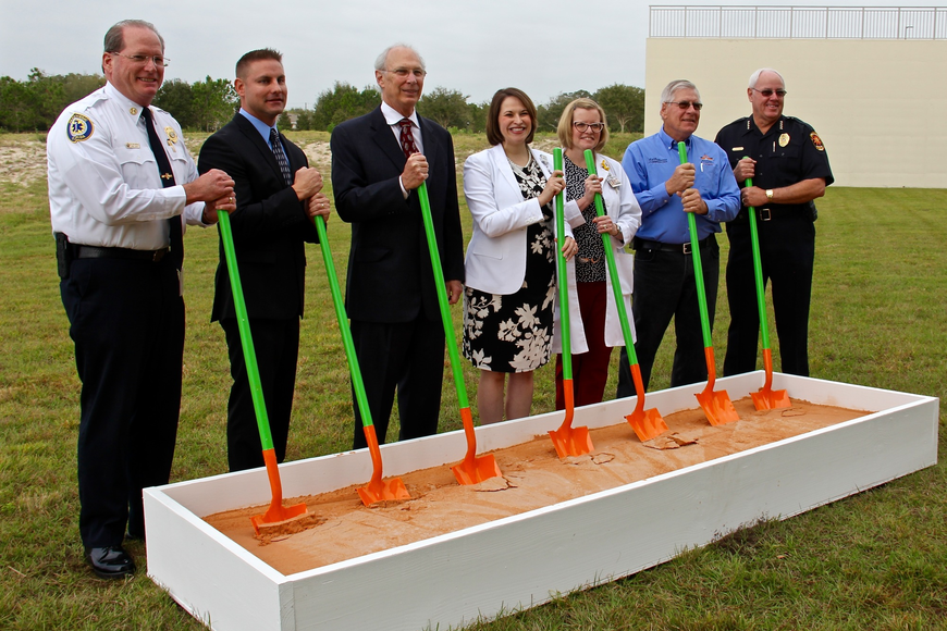 City and hospital leaders came together on Tuesday, Feb. 14 to ceremoniously break ground on the Florida Hospital Winter Garden's new medical building.