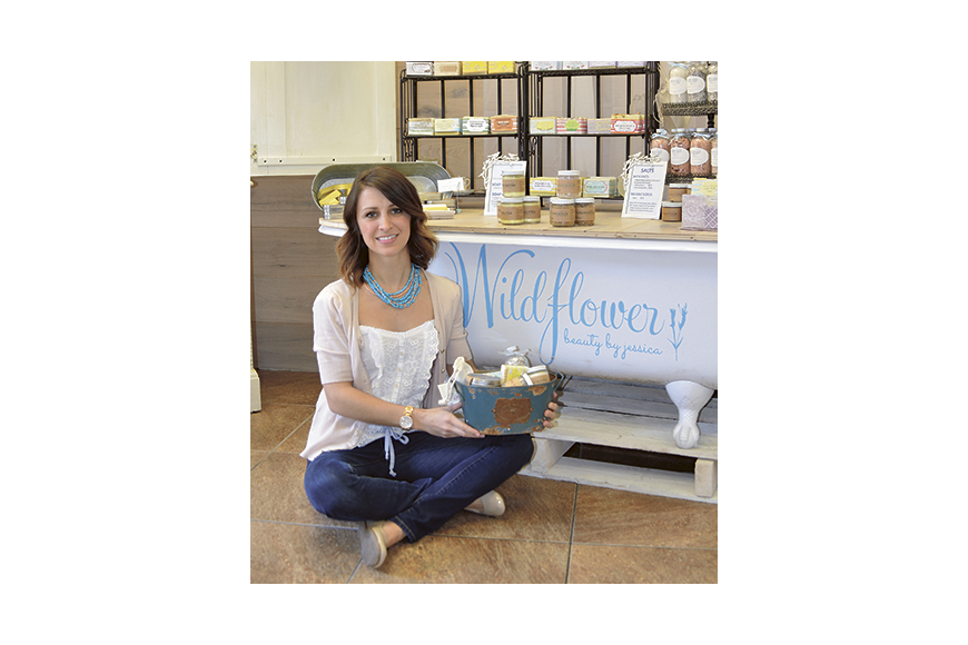 Budding entrepreneur sells natural skin care products from downtown W.G. shop