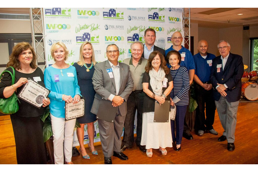 Photo by: Sarah Wilson - Businesses that have been with the Winter Park Chamber for 25-29 years.