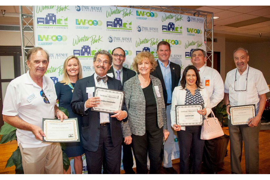 Photo by: Sarah Wilson - Businesses that have been with the Winter Park Chamber for 30-34 years.