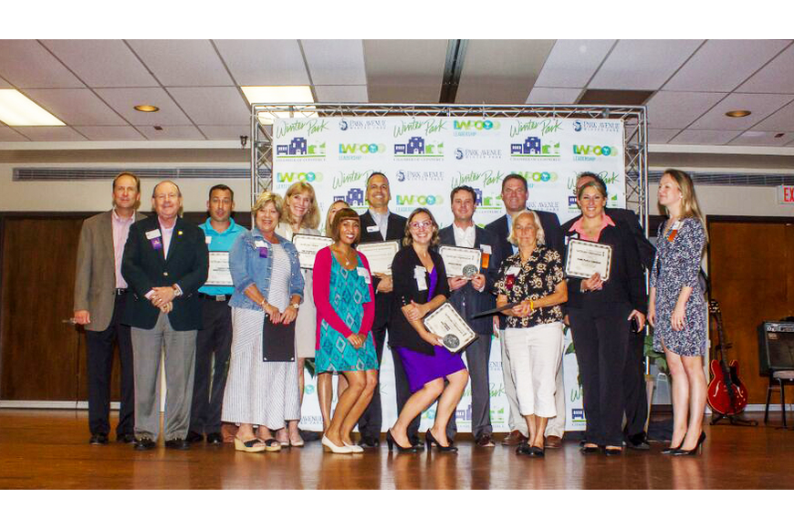Photo by: Sarah Wilson - Businesses that have been with the Winter Park Chamber for 35-39 years.