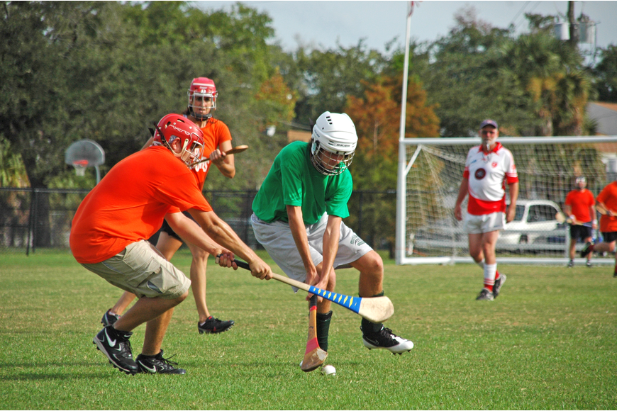 Photo by: Isaac Babcock - Hurlers play a scrimmage on a field in Winter Park's Lake Island Park, which will be renamed Martin Luther King, Jr. Park in honor of the civil rights leader.