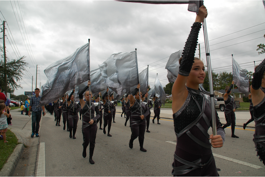 Photo by: Isaac Babcock - Lake Howell High School's color guard
