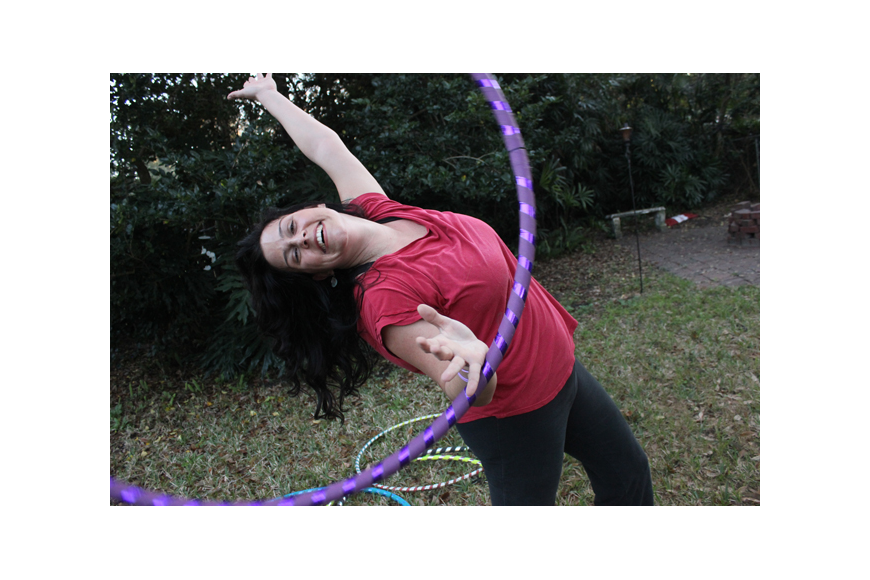 Photo by: Sarah Wilson - Morgan Kennedy changed her life with hula hooping, and turned it into a business.