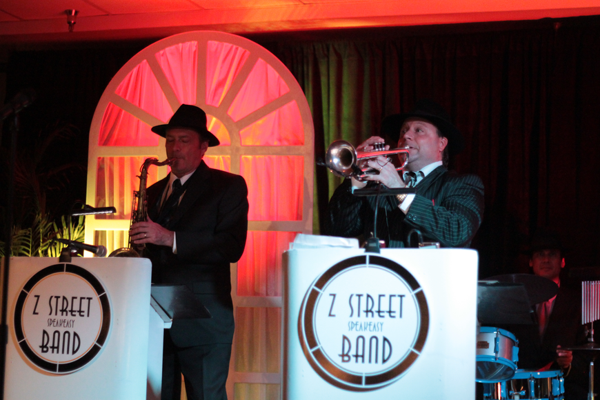 Photo by: Steven Barnhart - The Z Street Speakeasy Band entertained the crowd at the Bash for Books Sept. 8.
