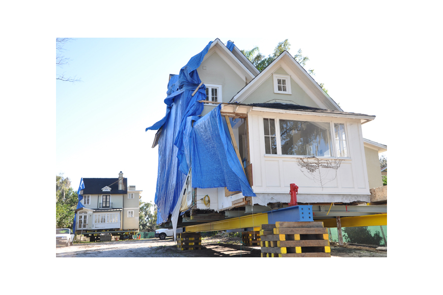 Photo by: Tim Freed - The Capen House project can move ahead after a newly discovered sewer pipe is moved.