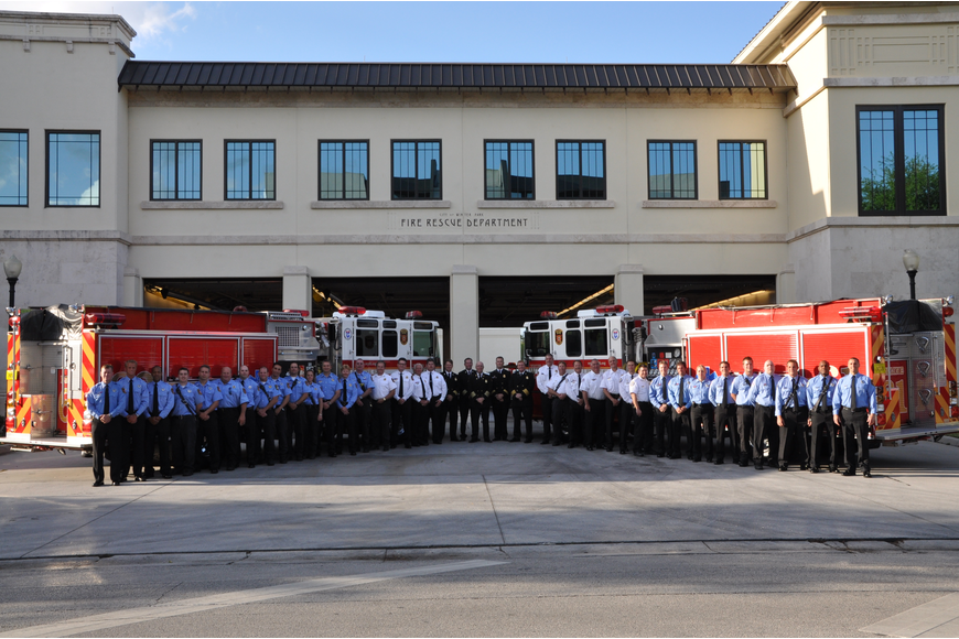 Photo by: City of Winter Park - The Winter Park Fire Rescue Department celebrated its 110th birthday on Friday, April 16 with a small gathering of officials.