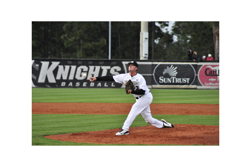 Photo by: Isaac Babcock - Knights pitching dominated AAC opponents last week, keeping them undefeated.