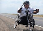 Bob Wieland participated in the 2011 Dream Ride with his hand cycle.